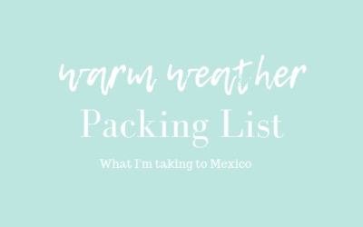 Warm Weather Travel: What I pack to fit in my carry on suitcase