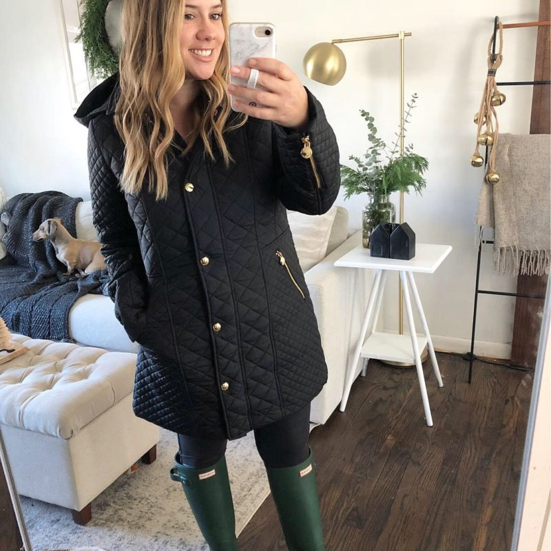 Quilted Coat Try on with sources